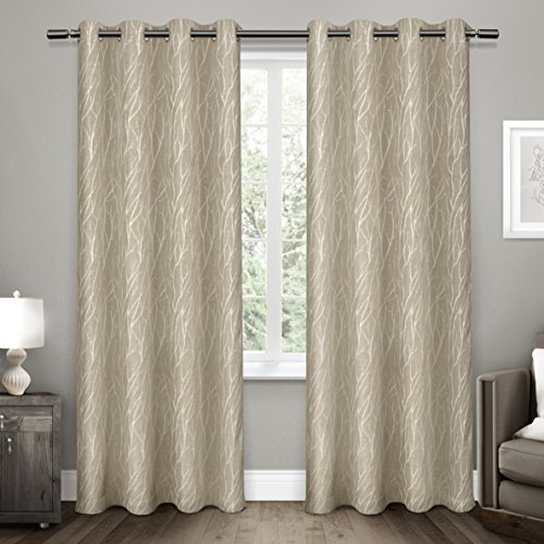 Exclusive Home Forest Hill Room Darkening Grommet Top Window Curtain Panel Pair, Set of 2, 108&# ...
