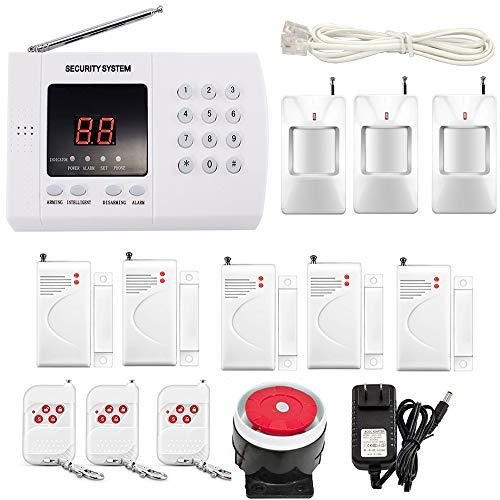 (iMeshbean Wireless PIR Home Security Burglar Alarm System Auto Dialing Dialer K05 99 Zones (K05 PSTN 99)