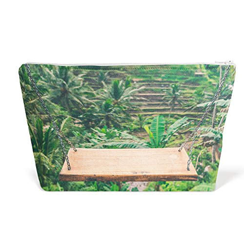 Yew Wood Furniture - Westlake Art - Swing Bench - Pen Pencil Marker Accessory Case - Picture Photography Office School Pouch Holder Storage Organizer - 13x9 inch (F17E5)