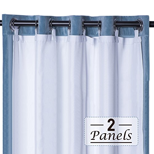 Rose Home Fashion RHF Thermal Insulated Blackout Curtain Lin