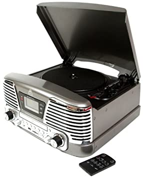 GPO Retro Memphis Plata - Tocadiscos (Plata, 33,45,78 RPM, 33,45 ...
