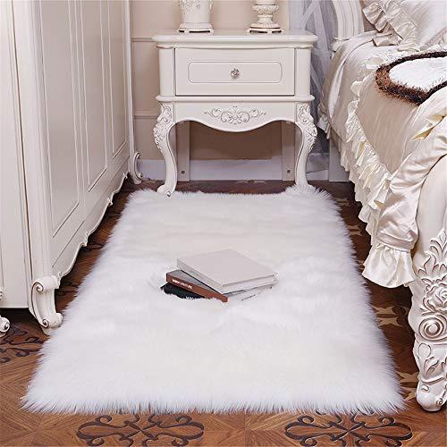FELALA Super Soft Luxury Fluffy Shaggy Faux Fur Area Rug for Living Room Bedroom Reading Room Study Nursery Couch Sofa Armchair Decor,2x3ft