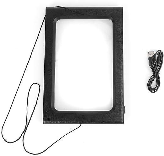 Wal front Lupa de Lectura con 6 Luces LED, Lupa de Mano o Manos Libres para Personas Mayores con Stand & Lanyard, USB: Amazon.es: Hogar