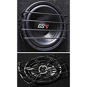 GS Power's 12 inch Bar Grille for Subwoofer and Speaker in Matte Black Finish (1 pc)