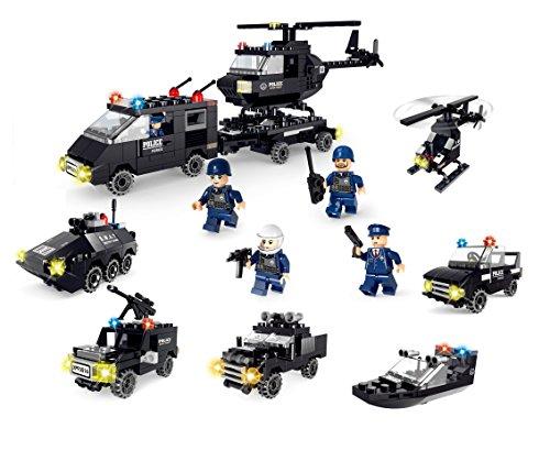 Little Builder Swat Police series 6 in 1 Building Bricks 718