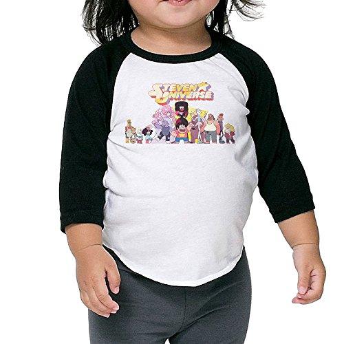 Kid's Steven Universe Toddler Boy's Girl's 3/4 Sleeves Raglan T Shirt 100% Cotton 2 Toddler ()