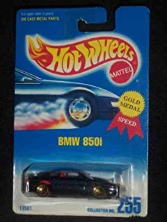 255 bmw 850i metal flake dark blue lacegold wheels collectible collector car mattel - Rare Hot Wheels Cars 2013