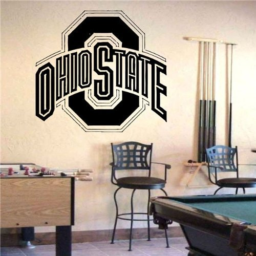 State Logo Wall - NCAA Ohio State Buckeyes Logo Wall art Sticker Decal (S687)