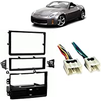 Fits Nissan 350Z 06-09 Single/Double DIN Harness Radio Install Dash Kit