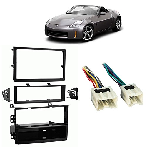 Fits Nissan 350Z 06-09 Single/Double DIN Harness Radio Install Dash Kit ()