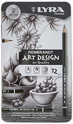 Lyra Rembrandt Art Design Drawing Pencils  Set Of 12 Pencils  Assorted Degrees  1111120