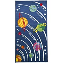 Flair Rugs Childrens/Kids Planets Design Bedroom Rug (39.5in X 75in) (