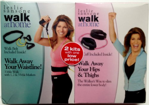 Leslie Sansone Walk at Home 2 Pack: Walk Away Your Waistline & Walk Away Your Hips & - Leslie Belt Sansone