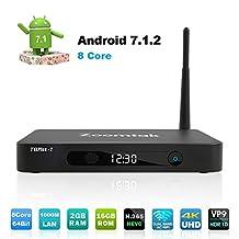 Android 7.1 TV Box Octa Core 2GB/16GB Smart TV Box Dual Wi-Fi Bluetooth4.0 HD 4K