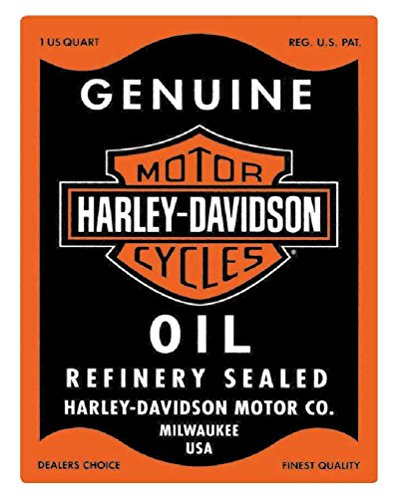 Harley-Davidson Oil Can Rectangle Tin (Rectangle Embossed Labels)