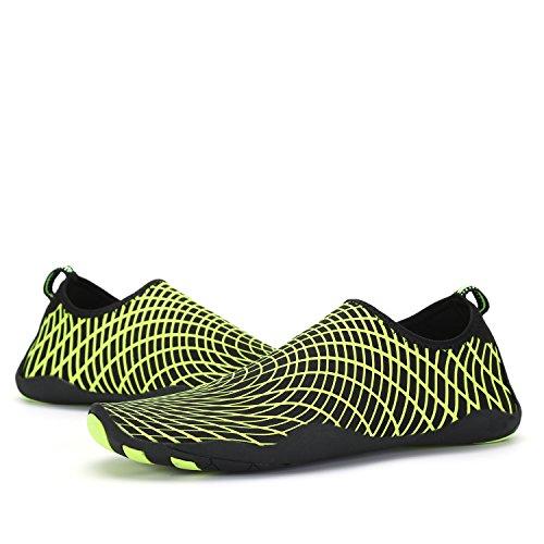 ANLUKE Water Sports Shoes Wading Aqua Slip on For Men Women Kids Green/Web oJs71y7J9Y