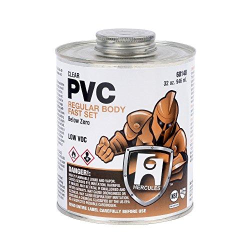 Oatey 60148 Hercules PVC Below Zero Clear Medium Fast Set Cement