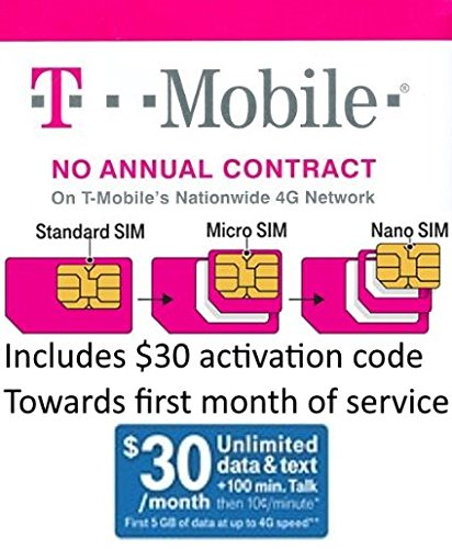 T-Mobile Sim Starter Kit with $30 of Service Included (Nano Sized SIM) by T-Mobile (Image #2)