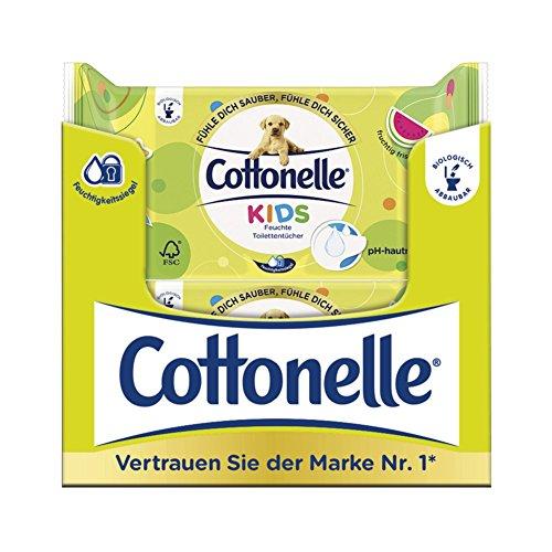 Cottonelle Vochtig toiletpapier voor kinderen, fruitig frisse geur, biologisch afbreekbaar, hersluitbaar…