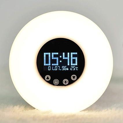 YOMRIC Sunrise Alarm Clock - Reloj Digital de LED con ...