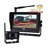 Cheap 7-inches Digital Wireless HD Monitor IR Camera System 2.4G Rear View Back up System for RV Truck Trailer Bus Fifth-wheel or Postal Fire Truck