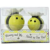 Kate Aspen Mommy and Me Sweet as Can Bee Ceramic Honeybee Salt and Pepper Shakers