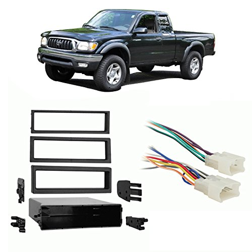 Fits Toyota Tundra 1999-2002 Single DIN Stereo Harness Radio Install Dash Kit - Tundra Single