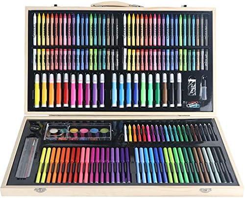 MELLRO Wasser Farbstift Das 180-teilige Kunstset enthält Zeichnungen, Gemälde und vieles mehr in einem kompakten, tragbaren Format Geschenke für Kinder (Color : Natural, Size : Free Size)