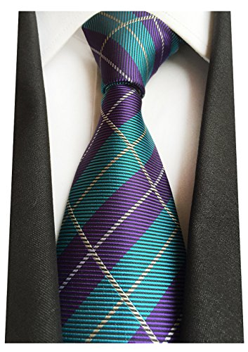 - MENDENG New Classic Striped White Black Streak 100% Silk Men'S Tie Necktie Ties