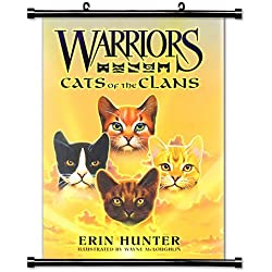 "Warriors: Cats of the Clans (Erin Hunter) Fabric Wall Scroll Poster (16"" x 23"") Inches [BK]"