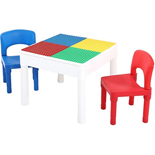 MQQ Puede acomodar mesa y silla for niños conjunto 3 en 1 Tabla de ...