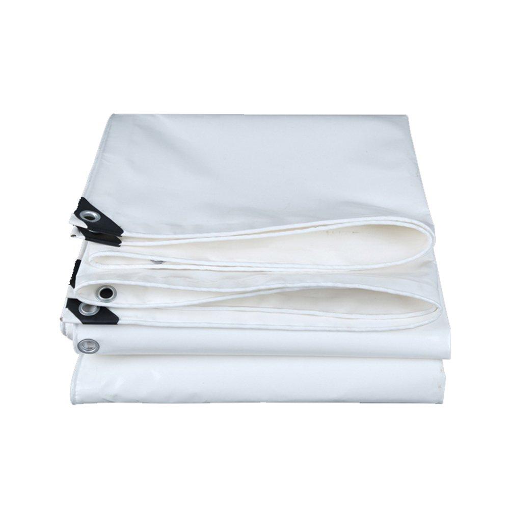 PENGFEI オーニング ターポリン 防水 雨布 貨物 シェード 産業機械 カバー 日焼け止め 防塵の 耐寒性 PVC、 厚さ0.45MM、 550 G/M2 (色 : 白, サイズ さいず : 2 x 3m) B07D7RFLD4 2 x 3m|白 白 2 x 3m