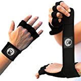 AMRAP Gear Ultimate Cross Training Gloves Gym Workout Hand Protectors, Weightlifting WOD Wraps for Men & Women, Stylish & Comfortable Exercise Wrist Guards (Black, Large)