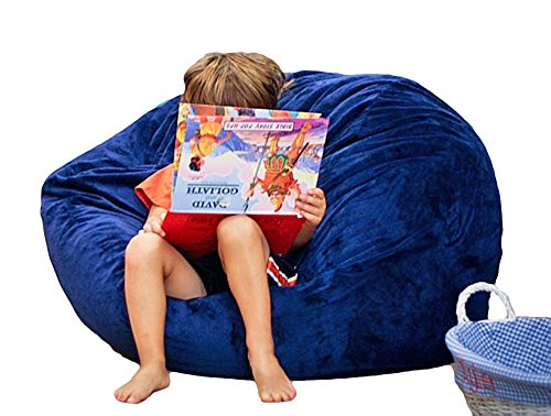 Ahh! Products Cuddle Minky Navy Blue Washable Large Bean Bag Chair by Ahh! Products
