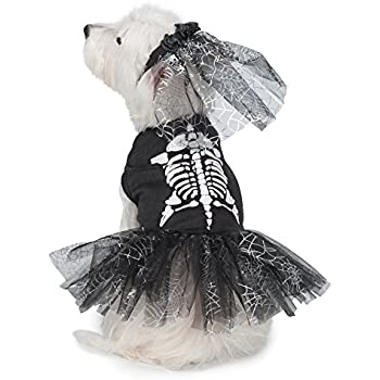 """Casual Canine Glow-in-the-Dark Skeleton Zombie Dog Costumes, 24""""/X-Large"""