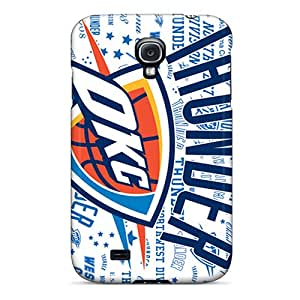 Shockproof Hard Phone Case For Samsung Galaxy S4 (qNS18658tulG) Custom Beautiful Oklahoma City Thunder Skin