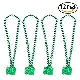 Toys : ULTNICE St Patrick's Day Beads Shamrock Necklace with Green Shot Glass 12PCS