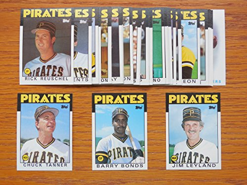 Bream Master - Pittsburgh Pirates 1986 Topps Baseball Master Team Set w/ Year End Traded Cards (33 Cards) (Nr-Mt to Mt)**Barry Bonds Rookie Card**Sid Bream, Mike Brown, Pat Clements, Jose DeLeon, Denny Gonzalez, Cecilio Guante, Steve Kemp, Sammy Khalifa, Bob Kipper, Johnnie LeMaster, Jim Leyland, Sixto Lezcano, Lee Mazzilli, Larry McWilliams, Jim Morrison, Joe Orsulak, Junior Ortiz, Tony Pena, Johnny Ray, Rick Reuschel, Rick Rhoden, Don Robinson, Chuck Tanner, Jason Thompson, Bob Walk, Marvell Wynne and More