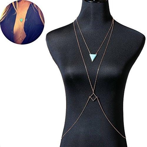 Bikini Crossover Harness Necklace Jewelry product image
