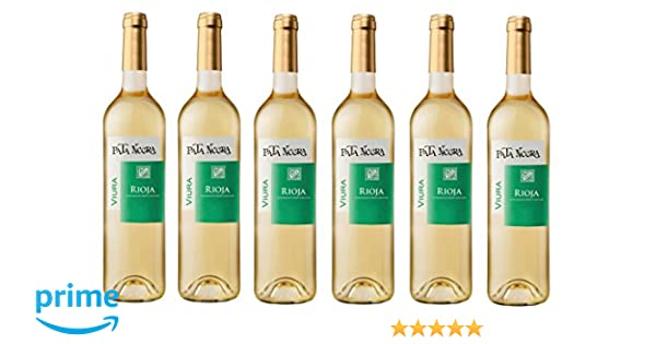 Pata Negra Viura D.O Rioja Vino Blanco - 6 Botellas x 750 ml - Total: 4500 ml: Amazon.es: Alimentación y bebidas
