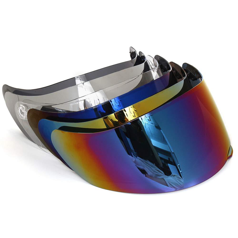 Entweg Motorcycle Wind Shield Helmet Lens Visor Full Face Fit for AGV K1 K3SV K5