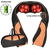 Cordless Neck and Shoulder Massager with Heat, Rechargeable...
