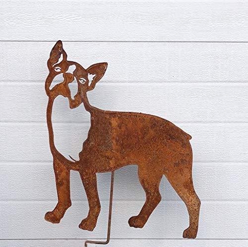 (Boston Terrier Garden Stake or Wall Hanging)