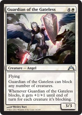 Magic: The Gathering - Guardian of the Gateless (14) - Gatecrash (Best White Angel Cards Mtg)