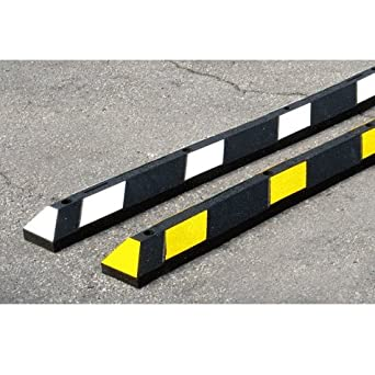Garage Parking Stop >> Park It Garage Parking Stop 72 Rubber W Stripe Amazon Com