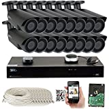 16 Channel H.265 4K NVR 5MP 1920p POE IP Camera System Wired, 16 x Varifocal Zoom 2.8-12mm Outdoor Indoor Security Cameras - H.265 (Double recording data and enhance picture quality compared to H.264)