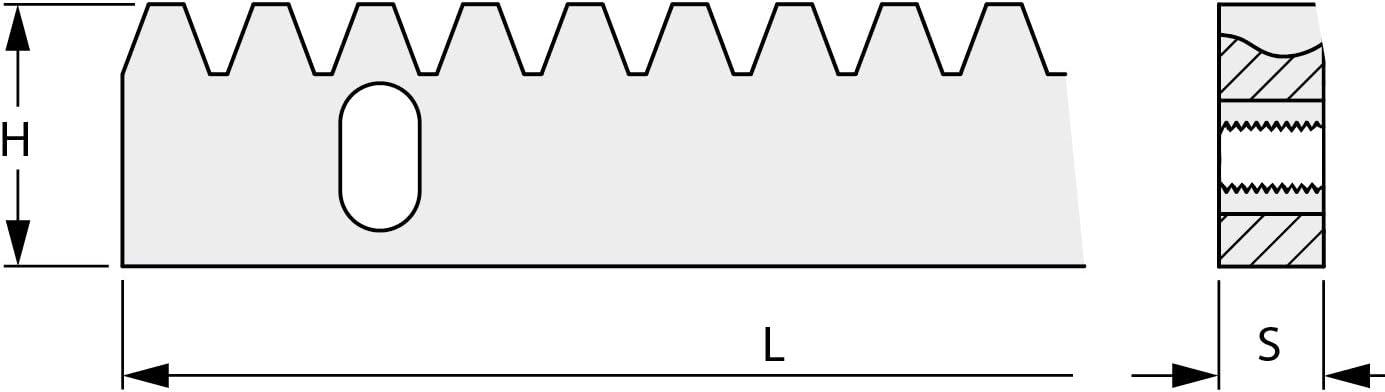 Cr/émaill/ère 30x12 nue 1m 3 trous perc/ée