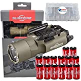 SureFire X300 Ultra High Output 1000 Lumens LED WeaponLight Tan (X300U-A) with 12 Extra CR123A Batteries and 3 Lightjunction Battery Cases
