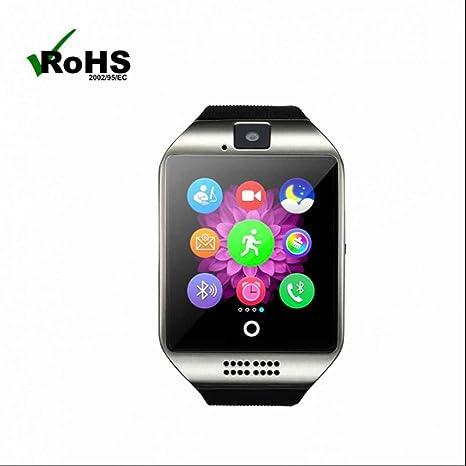Smart Watch,Inteligentes Reloj Inteligente Bluetooth con Control de Musica y Cámara,Podómetro,