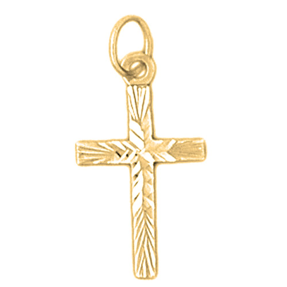 Jewels Obsession Cross Necklace 14K Yellow Gold-plated 925 Silver Latin Cross Pendant with 30 Necklace